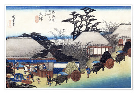 Póster Premium  The Teahouse at the Spring - Utagawa Hiroshige