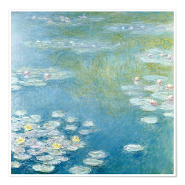 Póster Premium  Nympheas at Giverny - Claude Monet