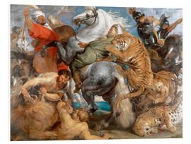 Quadro em PVC  The Tiger Hunt - Peter Paul Rubens