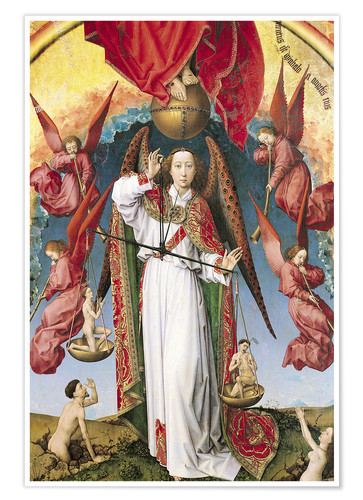 Póster Premium Last Judgment, St. Michael, Weighing Souls