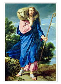 Póster Premium  The Good Shepherd - Philippe de Champaigne