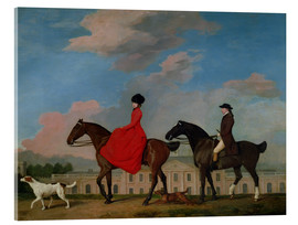 Quadro em acrílico  John and Sophia Musters riding at Colwick Hall - George Stubbs