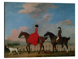 Quadro em alumínio  John and Sophia Musters riding at Colwick Hall - George Stubbs