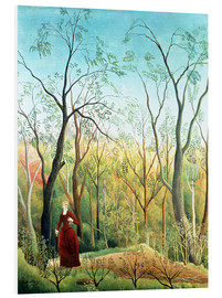 Quadro em PVC  The Walk in the Forest - Henri Rousseau