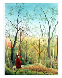 Póster Premium  The walk in the forest - Henri Rousseau