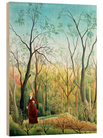 Quadro de madeira  The walk in the forest - Henri Rousseau
