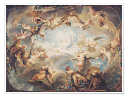 Póster Premium The Triumph of Cupid over all the Gods