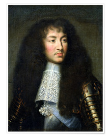 Póster Premium Portrait of Louis XIV