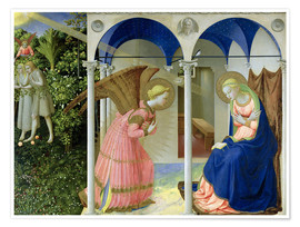 Póster Premium  The Annunciation - Fra Angelico