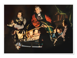 Póster Premium  The Orrery - Joseph Wright of Derby
