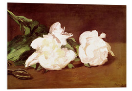 Quadro em PVC  Branch of White Peonies and Secateurs - Edouard Manet