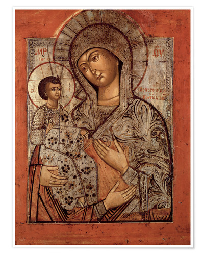 Póster Premium Icon of the Blessed Virgin with Three Hands