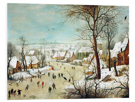 Quadro em PVC  Winter Landscape with a Bird Trap - Pieter Brueghel d.Ä.