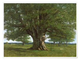 Póster Premium  The Oak of Flagey - Gustave Courbet