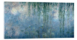 Quadro em acrílico  Waterlilies: Morning with Weeping Willows - Claude Monet