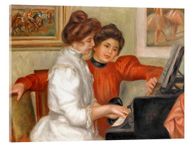 Quadro em acrílico  Yvonne and Christine Lerolle at the piano - Pierre-Auguste Renoir