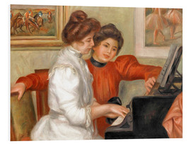 Quadro em PVC  Yvonne and Christine Lerolle at the piano - Pierre-Auguste Renoir
