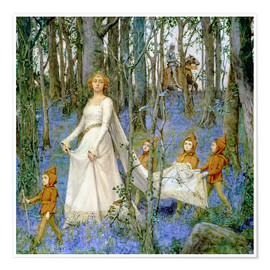 Póster Premium  The Fairy Wood - Henry Meynell Rheam