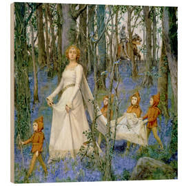 Quadro de madeira  The Fairy Wood - Henry Meynell Rheam