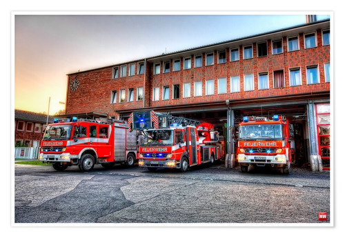Póster Premium Fire station in Germany