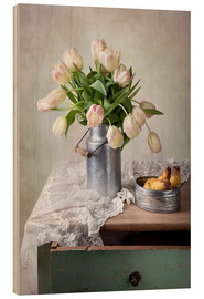 Quadro de madeira  Still life with tulips - Nailia Schwarz