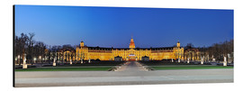 Quadro em alumínio  Panoramic view of palace Karlsruhe Germany - FineArt Panorama