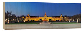 Quadro de madeira  Panoramic view of palace Karlsruhe Germany - FineArt Panorama