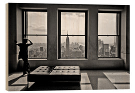 Quadro de madeira  New York, Top of the Rock - Thomas Splietker