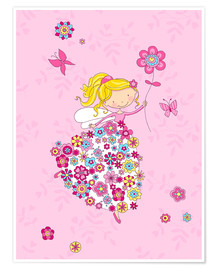 Póster Premium Flower Princess