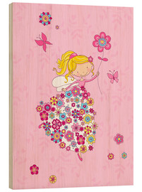 Quadro de madeira  Flower Princess - Fluffy Feelings