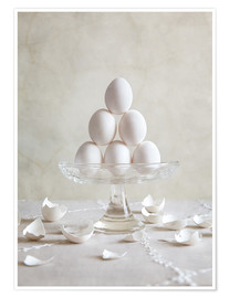 Póster Premium Still Life with Eggs