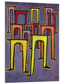Quadro em PVC  Revolution of the Viaduct - Paul Klee
