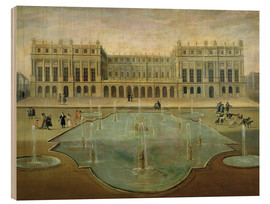 Quadro de madeira  Chateau de Versailles from the Garden Side - French School