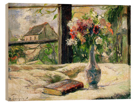 Quadro de madeira  Vase of Flowers - Paul Gauguin