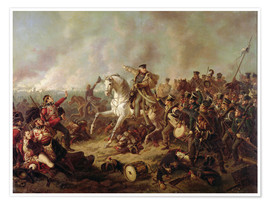 Póster Premium The Battle of Waterloo