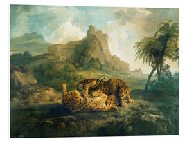 Quadro em PVC  Leopards at Play - George Stubbs
