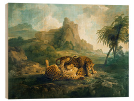 Quadro de madeira  Leopards at Play - George Stubbs