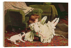 Quadro de madeira  Time to Play - Charles Burton Barber