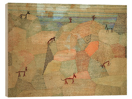 Quadro de madeira  Landscape with Donkeys - Paul Klee
