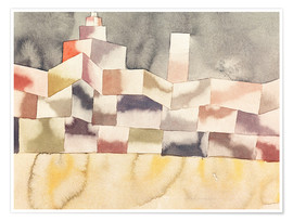 Póster Premium  Architecture in the Orient - Paul Klee
