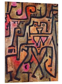 Quadro em PVC  Forest witches - Paul Klee