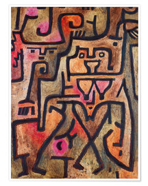Póster Premium  Forest witches - Paul Klee