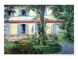 Póster Premium  Country house in Rueil - Edouard Manet