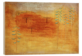 Quadro de madeira  Place of the appointment - Paul Klee