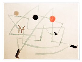 Póster Premium  Bewitched and in a hurry - Paul Klee