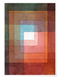 Póster Premium  White framed polyphonically - Paul Klee
