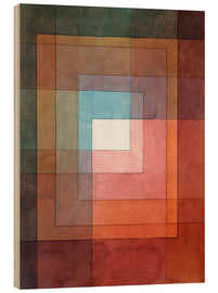Quadro de madeira  White framed polyphonically - Paul Klee