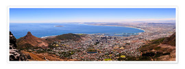 Póster Premium  Cape Town panoramic view - HADYPHOTO