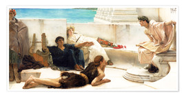 Póster Premium  A reading from Homer - Lawrence Alma-Tadema