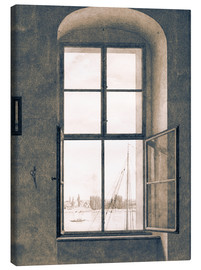 Quadro em tela  View from the studio - Caspar David Friedrich